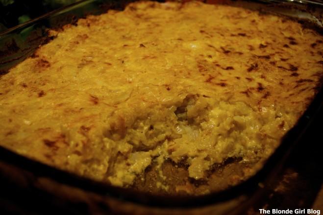 Cheesy Tater Tot Potato Casserole | The Blonde Girl Blog