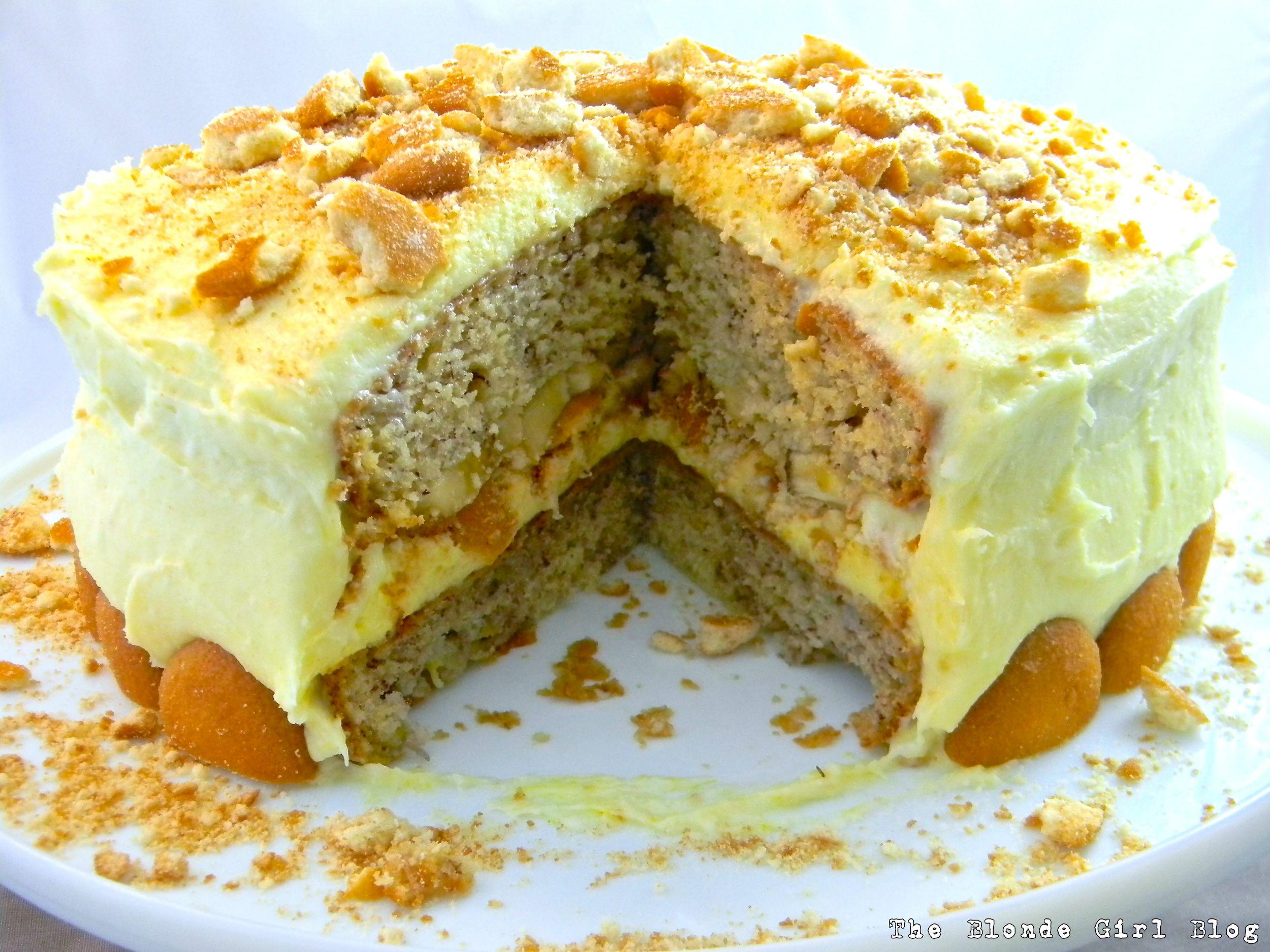 Banana Pudding Nilla Wafer Cake! | The Blonde Girl Blog
