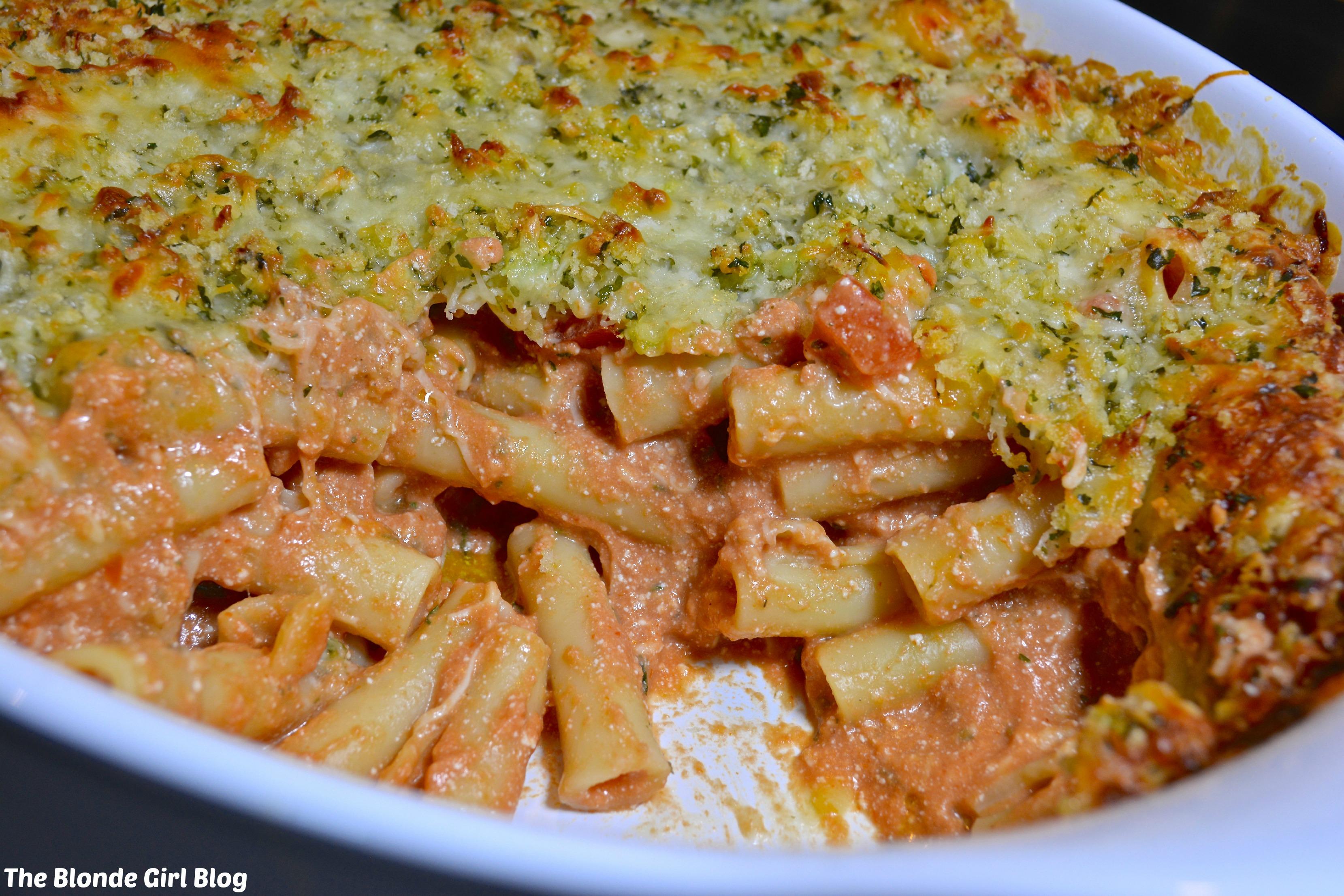 Homemade Baked 5-Cheese Ziti! | The Blonde Girl Blog